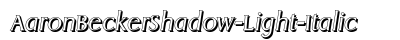 Aaron Becker Shadow Light Italic preview