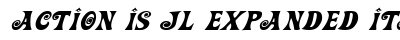 Action Is JL Expanded Italic preview