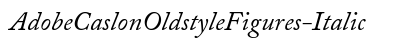 Adobe Caslon Oldstyle Figures Italic preview