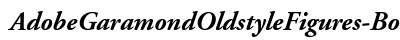 Adobe Garamond Oldstyle Figures Bold Italic preview