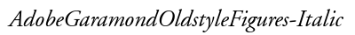 Adobe Garamond Oldstyle Figures Italic preview