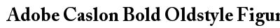 Adobe Caslon Bold Oldstyle Figures preview