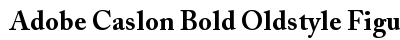 Adobe Caslon Bold Oldstyle Figures A preview