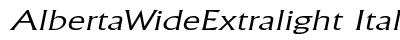 download Alberta Wide Extralight Italic