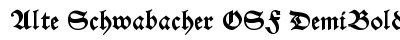 Alte Schwabacher OSF Demi Bold font