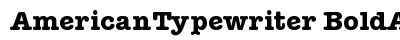 American Typewriter Bold A preview
