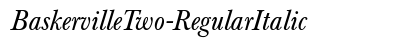 download Baskerville Two Regular Italic