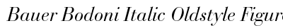 Bauer Bodoni Italic Oldstyle Figures preview