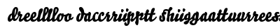 Bello Script Ligatures preview
