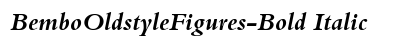 Bembo Oldstyle Figures Bold Italic preview