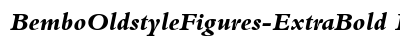 Bembo Oldstyle Figures Extra Bold Italic preview