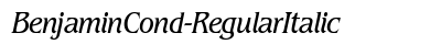 download Benjamin Cond Regular Italic