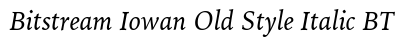 Bitstream Iowan Old Style Italic BT preview