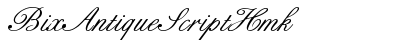 Bix Antique Script Hmk preview