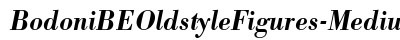 Bodoni BE Oldstyle Figures Medium Italic preview