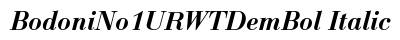 download Bodoni No 1 URWT Dem Bol Italic