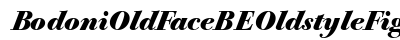 Bodoni Old Face BE Oldstyle Figures Bold Italic preview