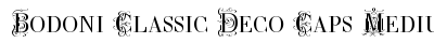 download Bodoni Classic Deco Caps Medium