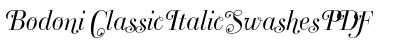 Bodoni Classic Italic Swashes PDF preview