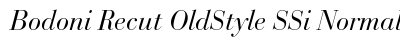 Bodoni Recut Old Style SSi Normal preview
