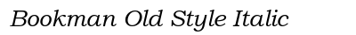 Bookman Old Style Italic preview