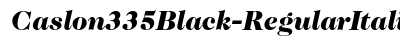 Caslon 335 Black Regular Italic preview