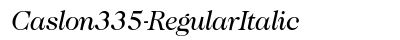 Caslon 335 Regular Italic preview