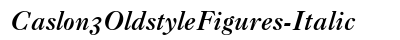 Caslon 3 Oldstyle Figures Italic preview