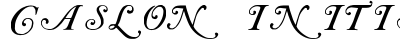 download Caslon Initials
