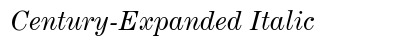 Century Expanded Italic preview