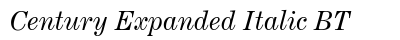 Century Expanded Italic BT preview