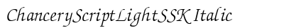 Chancery Script Light SSK Italic preview