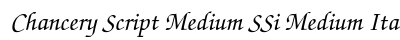 Chancery Script Medium SSi Medium Italic preview