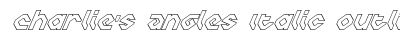 Charlie's Angles Italic Outline preview