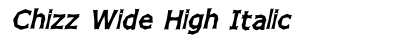 Chizz Wide High Italic preview
