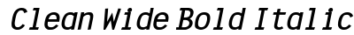 Clean Wide Bold Italic preview