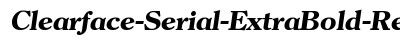 Clearface Serial Extra Bold Regular Italic preview