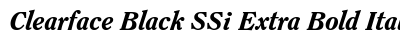 Clearface Black SSi Extra Bold Italic preview