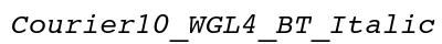 Courier 10 WGL 4 BT Italic preview