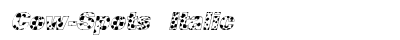 Cow Spots Italic preview