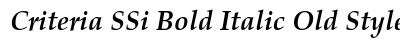Criteria SSi Bold Italic Old Style Figures preview