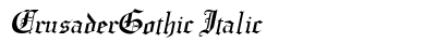 Crusader Gothic Italic preview
