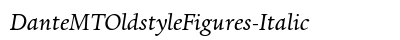 Dante MT Oldstyle Figures Italic preview