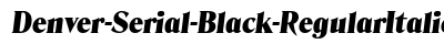 download Denver Serial Black Regular Italic