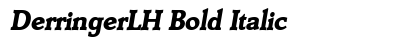 Derringer LH Bold Italic preview