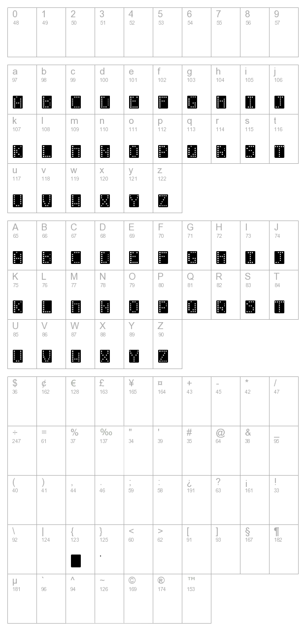Domino Effect Normal character map