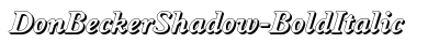Don Becker Shadow Bold Italic preview