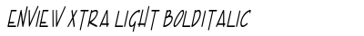 Enview Xtra Light Bold Italic preview