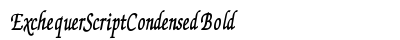 Exchequer Script Condensed Bold preview