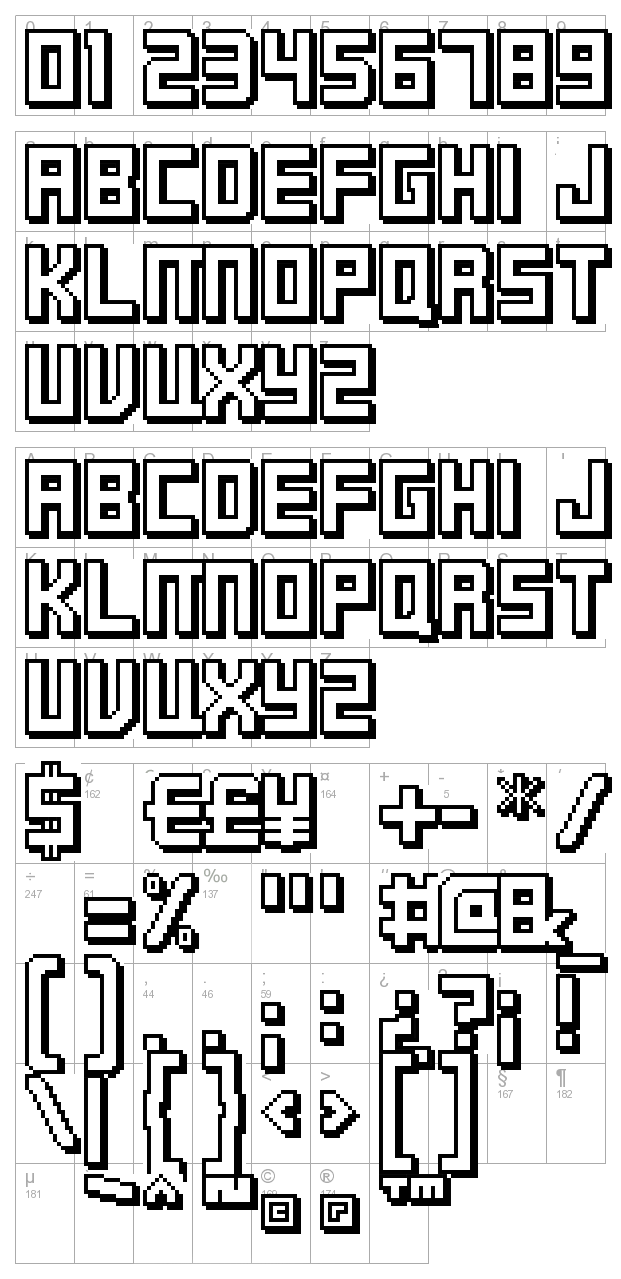 FFF Timeline 02 character map